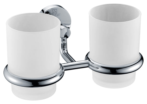 ANZZI Caster Series Double Toothbrush holder in Polished Chrome