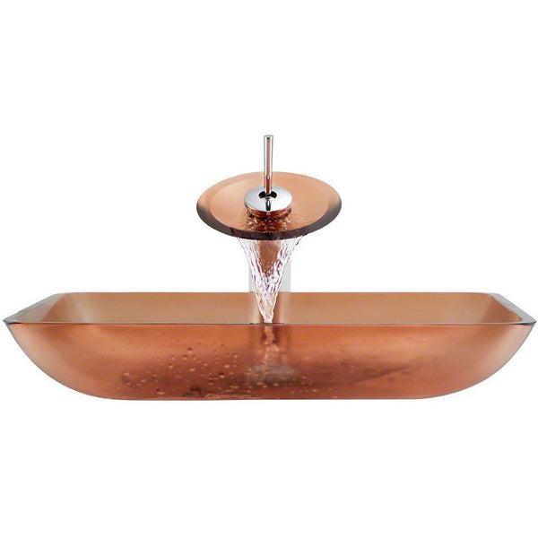 Waterfall Faucet Ensemble - The Polaris P046 Coral Bathroom Waterfall Faucet Ensemble