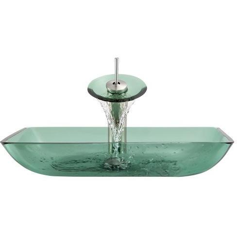 The Polaris P046 Emerald Bathroom Waterfall Faucet Ensemble Waterfall Faucet Ensemble Polaris