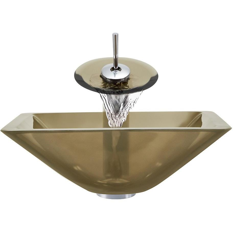 The Polaris P306 Taupe Bathroom Waterfall Faucet Ensemble Waterfall Faucet Ensemble Polaris
