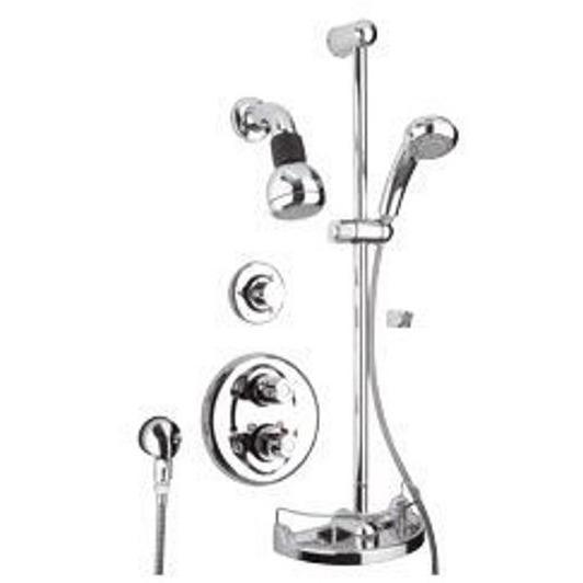 Latoscana Water Harmony Shower System Option 3 In A Chrome finish bathtub and showerhead faucet systems Latoscana