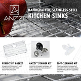 ANZZI ELYSIAN Series K33201A-032B Kitchen Sink