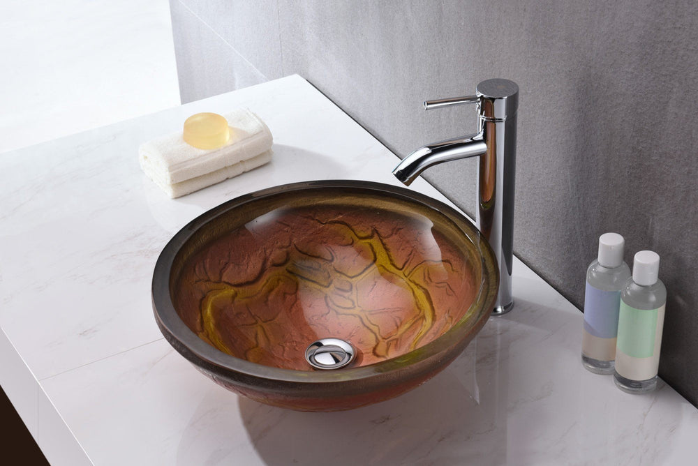 ANZZI Alto Series LS-AZ218 Vessel Sink - Glass Bathroom Sink ANZZI