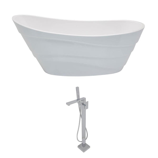ANZZI Stratus FT084-0028 FreeStanding Bathtub