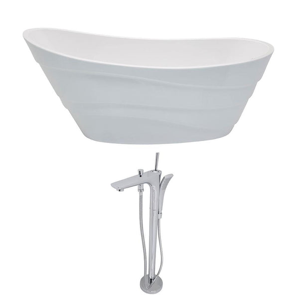 ANZZI Stratus FT084-0029 FreeStanding Bathtub
