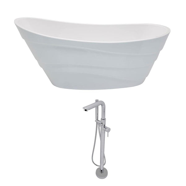 ANZZI Stratus FT084-0026 FreeStanding Bathtub
