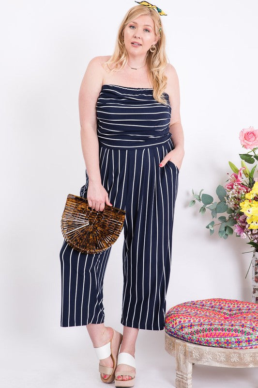 SOHO STRIPED JUMPSUIT