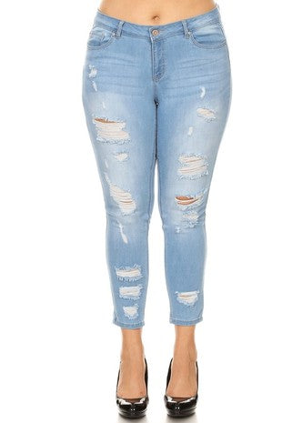GIA DISTRESSED SKINNY JEANS