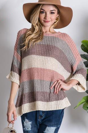 SWEET STRIPES PULLOVER