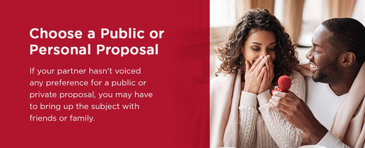 Choose a public of personal proposal