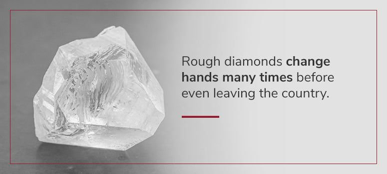 rough diamonds change hands many times