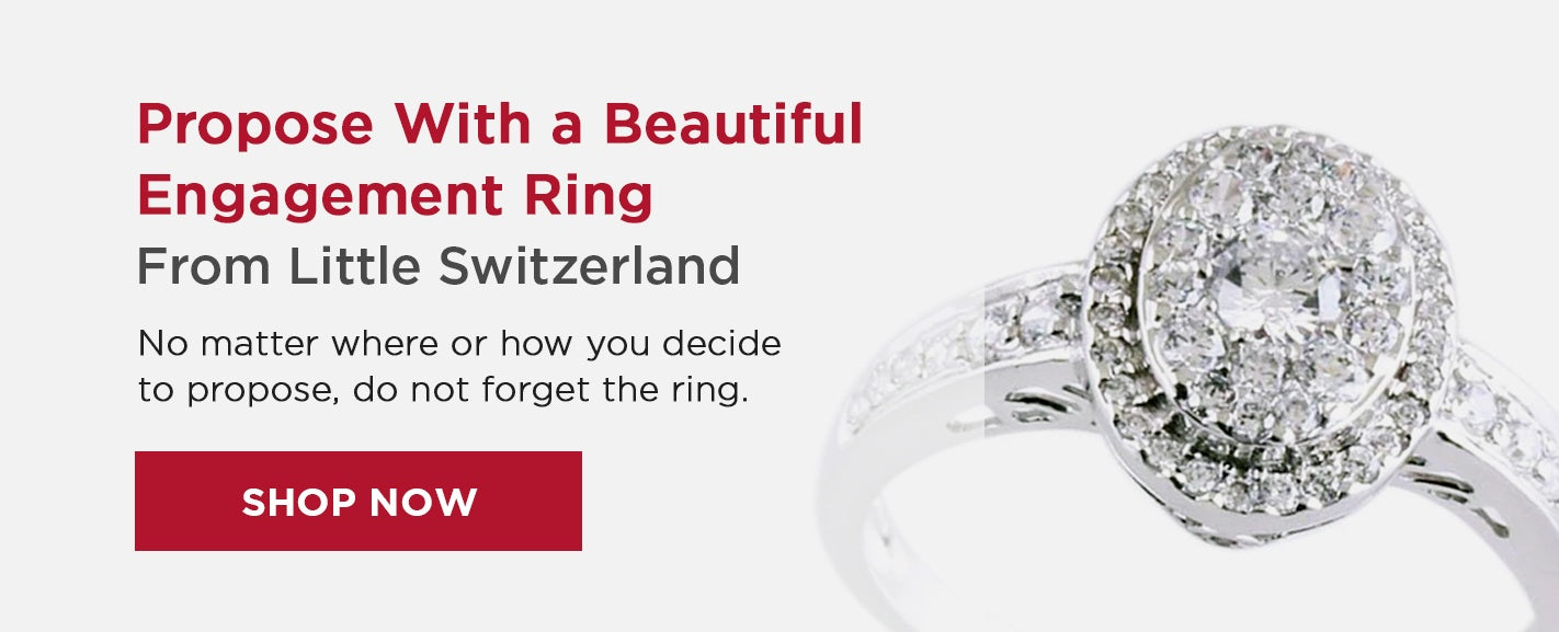 Propose with an engagement ring from Little Switzerland