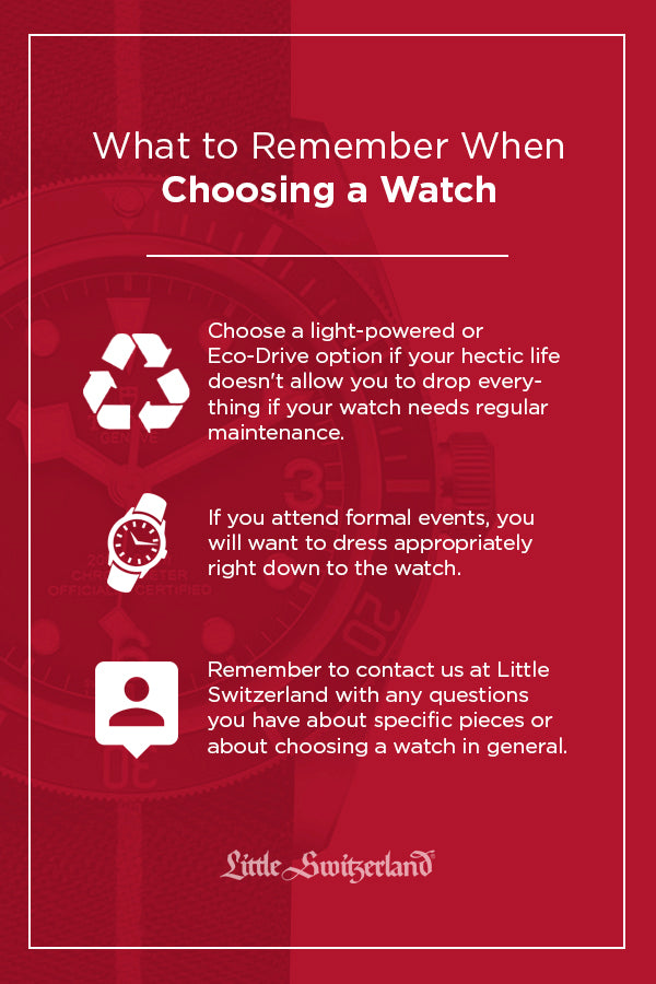 What to remember when choosing a watch