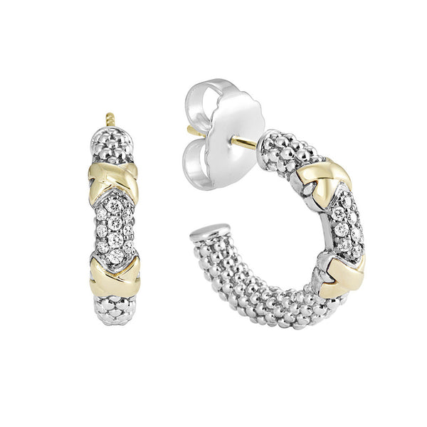 Diamond Lux Hoop Earrings
