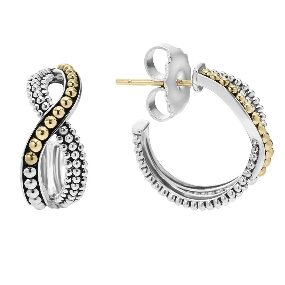 Infinity Double Twist Hoop Earrings