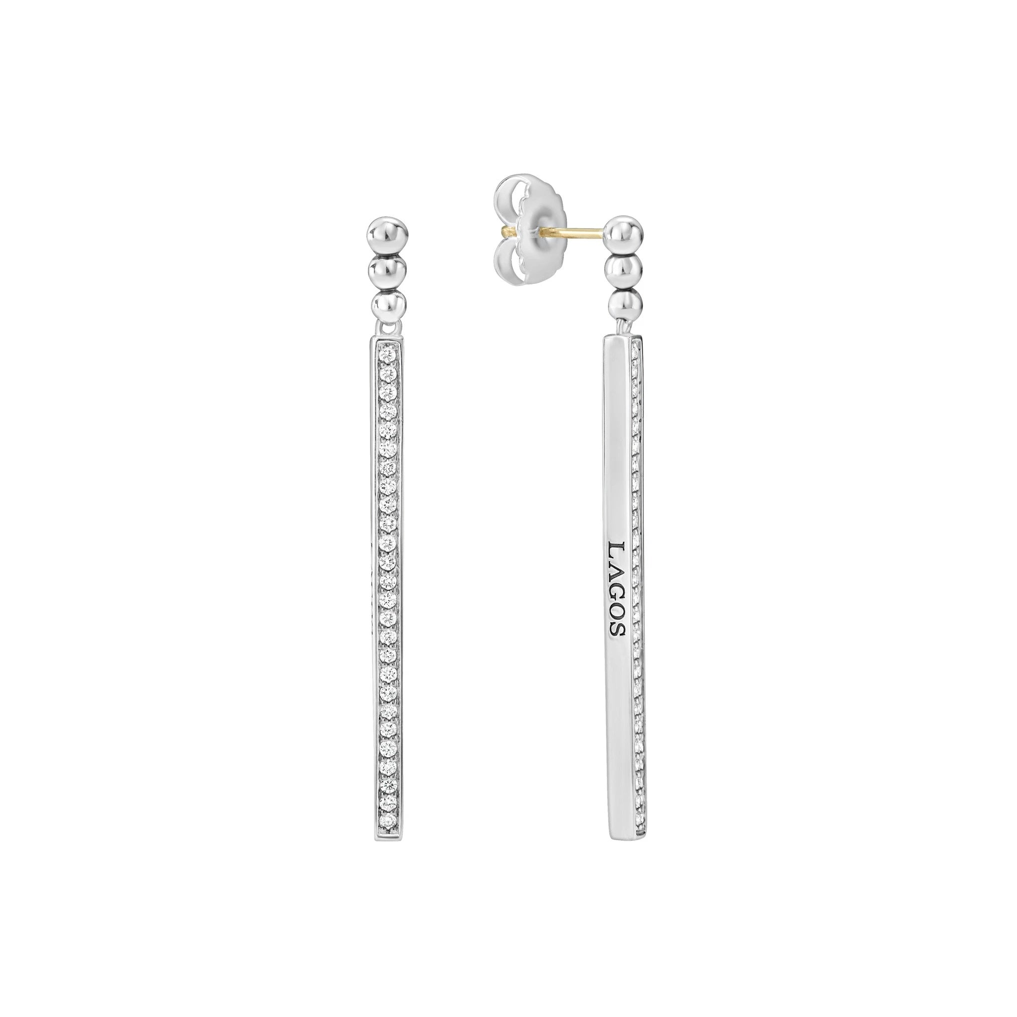 Caviar Spark Drop Earrings