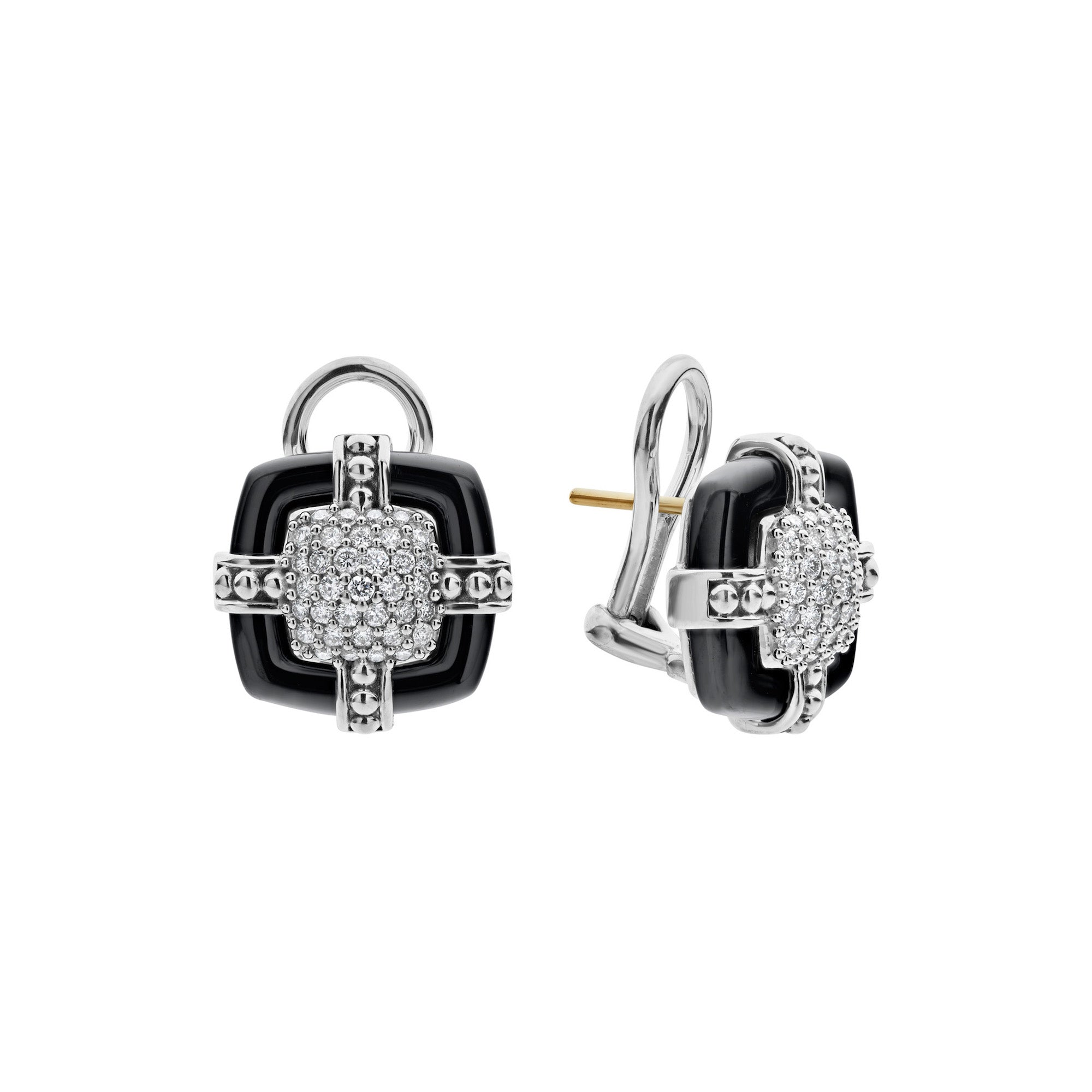 Black Caviar Diamond Earrings