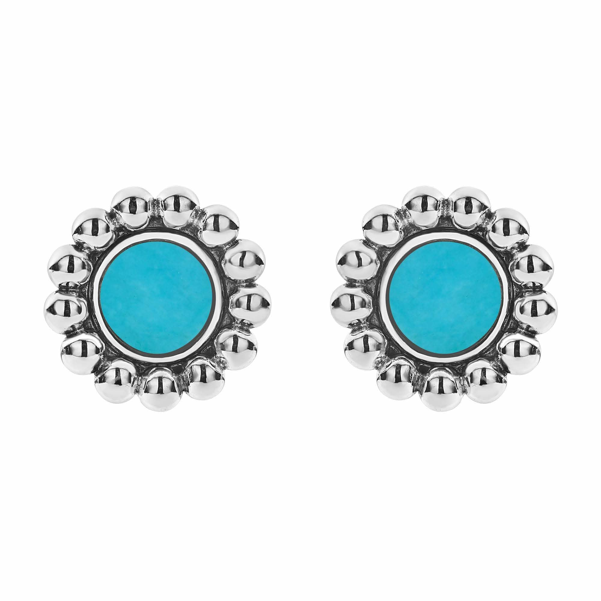 Maya Circle Stud Earrings Turquoise