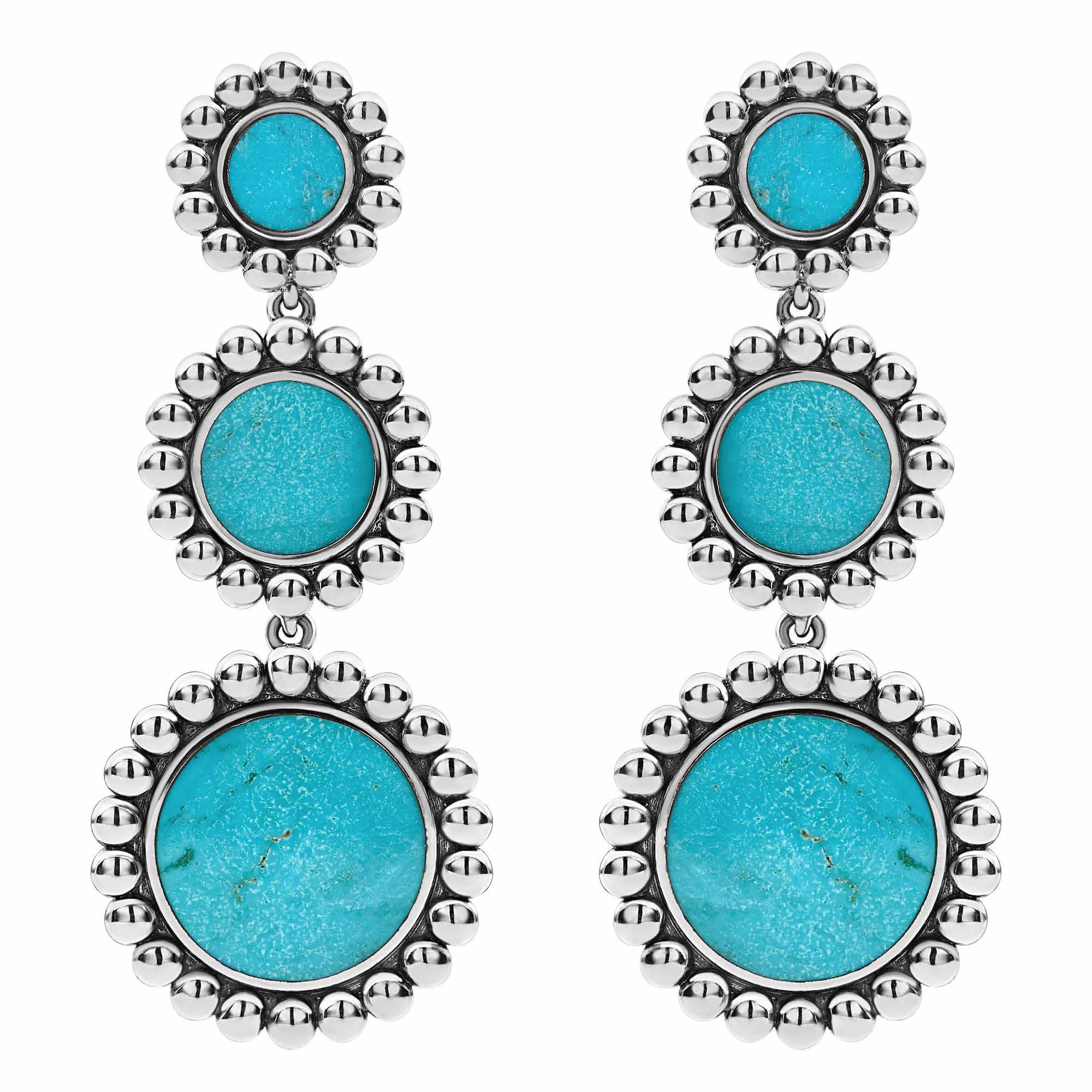 Maya Gemstone Drop Earrings Turquoise