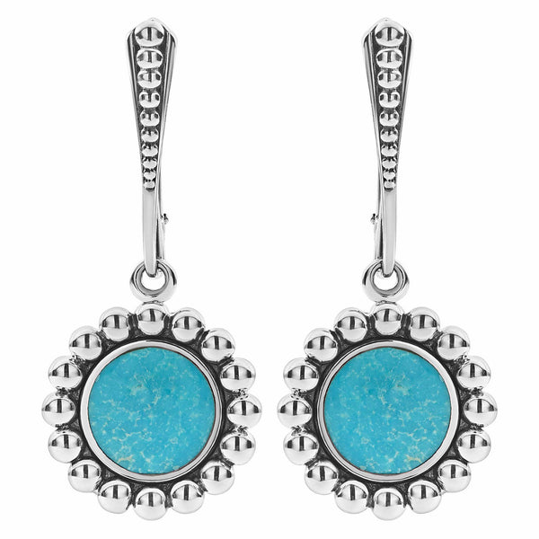 Maya Drop Earrings Turquoise