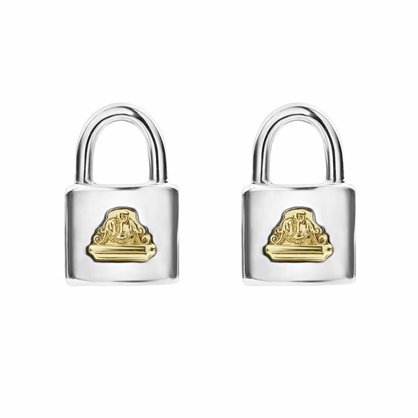 Beloved Lock Stud Earrings