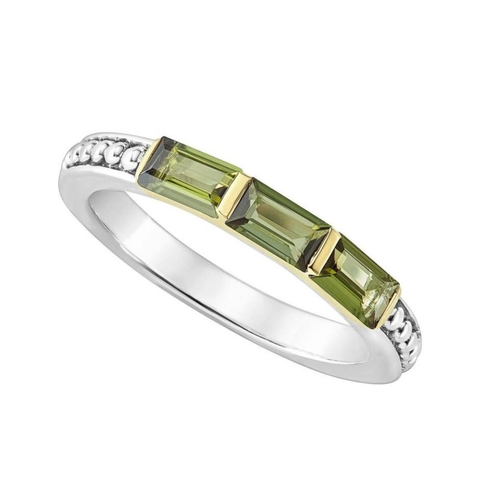Sterling Silver and Green Tourmaline Ring