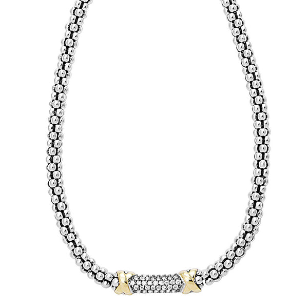 Diamond Lux Beaded Necklace
