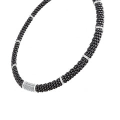 Black Caviar Diamond Necklace