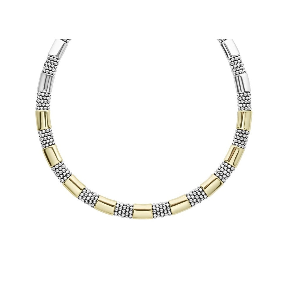 High Bar Gold Caviar Necklace