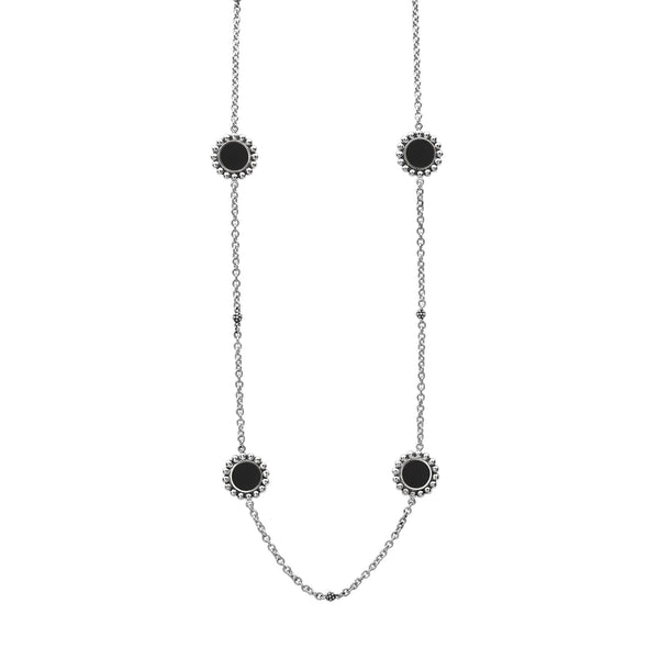 Maya Long Necklace Onyx