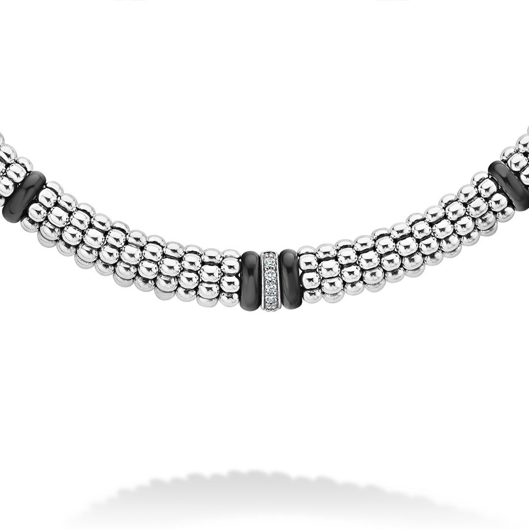 Black Caviar Diamond Caviar Necklace