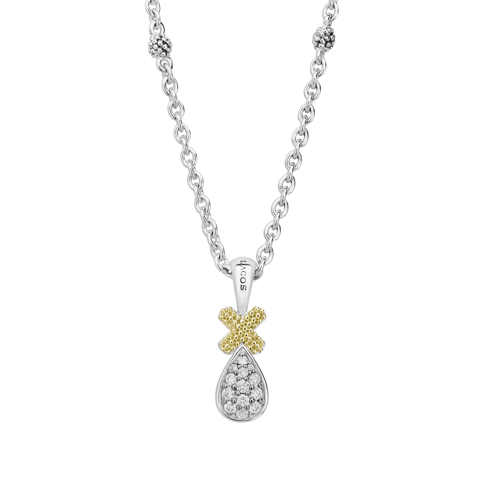 Caviar Lux Diamond Pendant Necklace