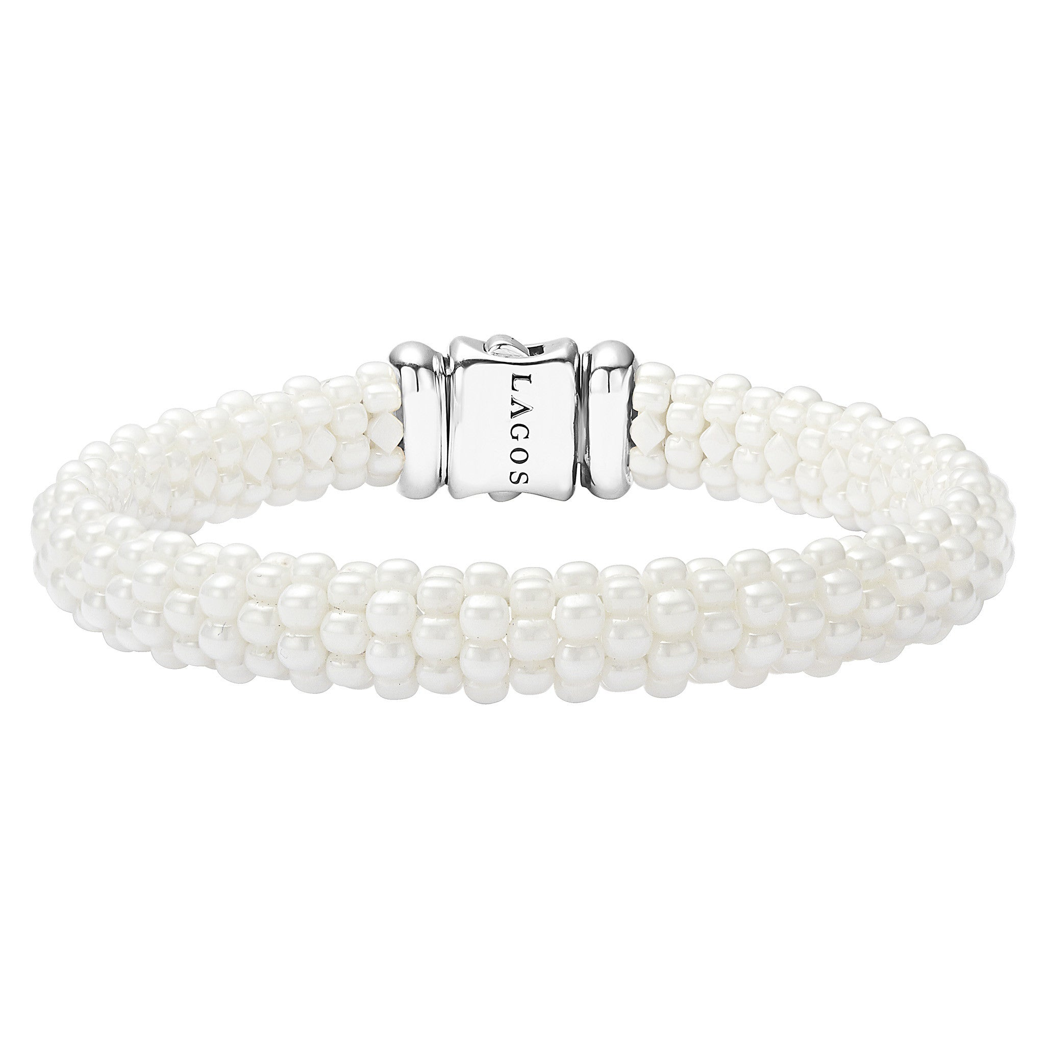 White Caviar Beaded Bracelet
