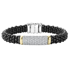Black & White Caviar Diamond Beaded Bracelet