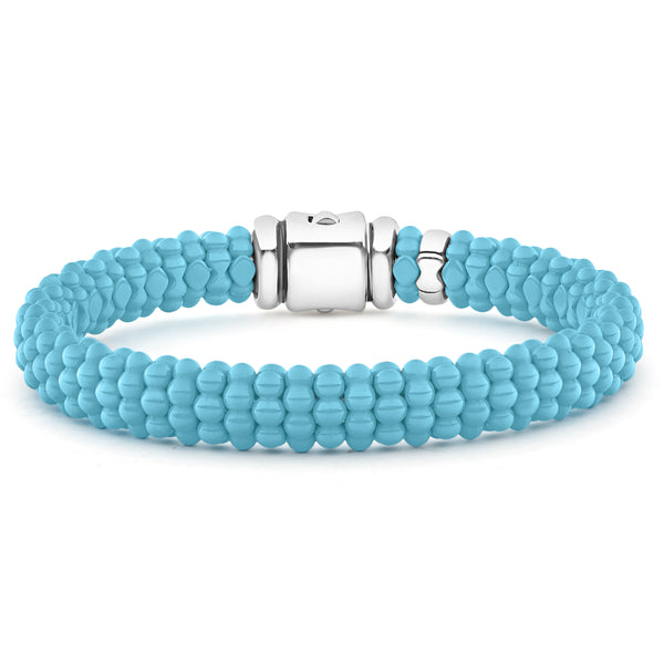 Blue Caviar Beaded Bracelet