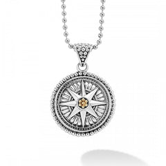 Signature Caviar Compass Necklace