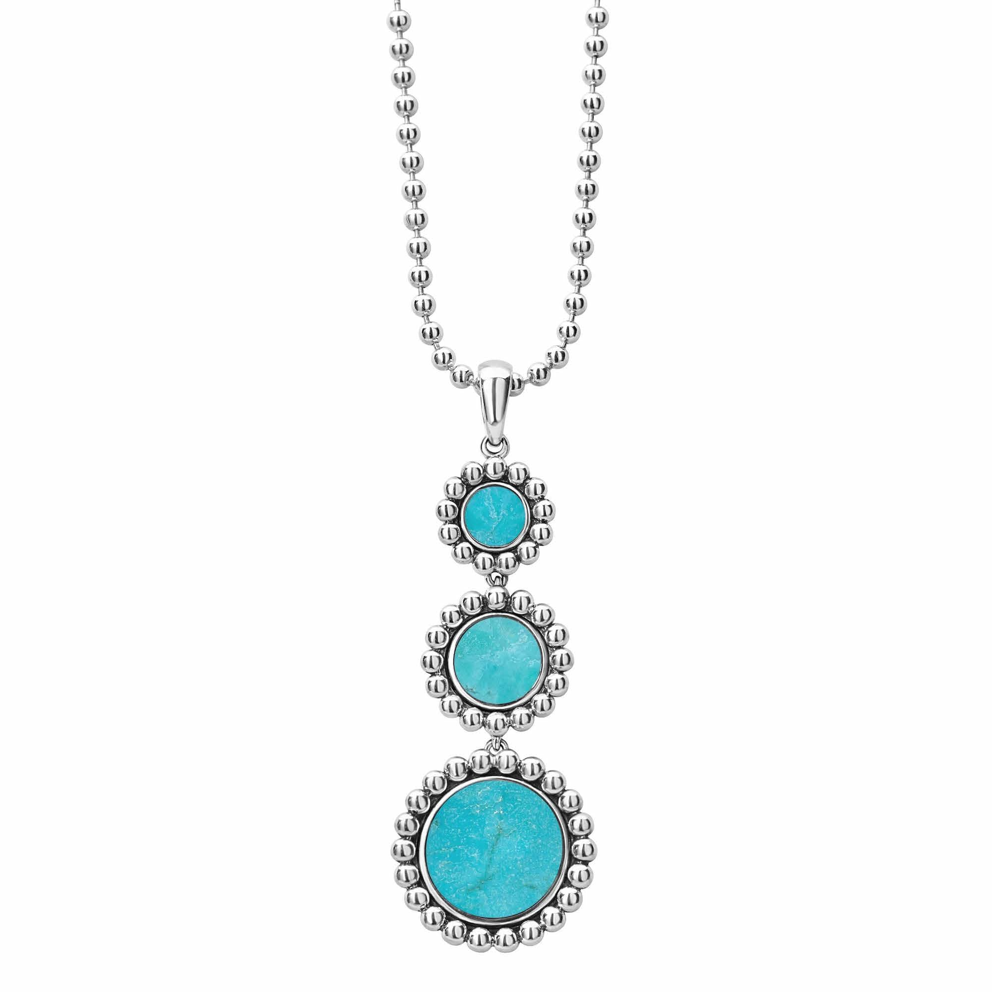 Maya Gemstone Pendant Necklace Turquoise