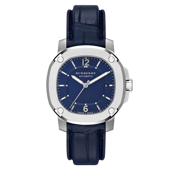 BURBERRY BRITIAN SS AUTO NAVY BLUE 43MM