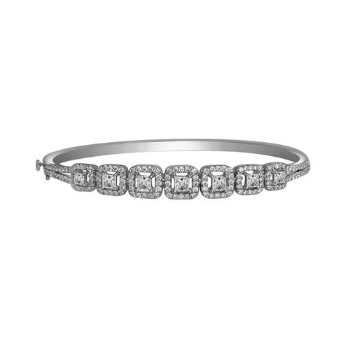 Diamond Bangle 18k White Gold (5.80 ct. tw.)