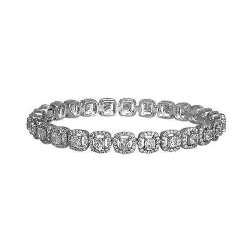 Diamond Bangle 18k White Gold (7.80 ct. tw.)