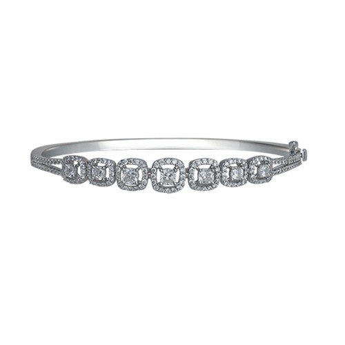 Diamond Bangle 18k White Gold (1.99 ct. tw.)