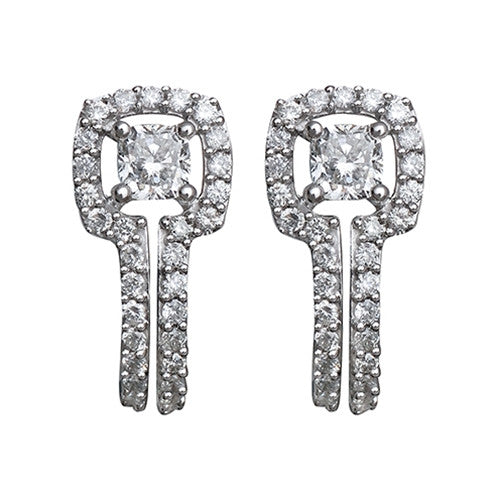 Diamond Earrings 14k White Gold  (0.95 ct. tw)