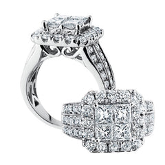 3.00 CTW Princess Cut Diamond Ring
