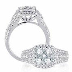 Invisible Setting Diamond Ring 14k White Gold (1.5 ct. tw.)