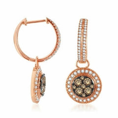Chocolate Diamond Drop Earrings 14k Rose Gold (1 ct. tw.)