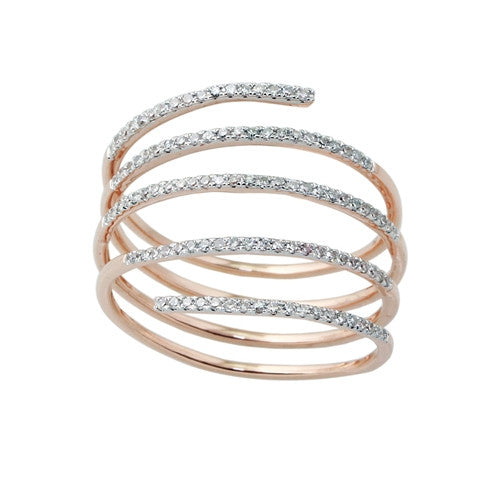 Diamond Spiral Ring