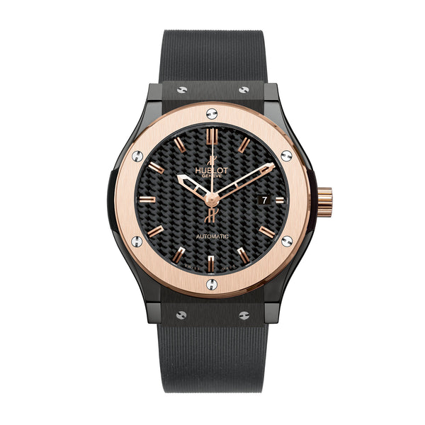 Classic Fusion Ceramic King Gold Black Dial Men's Watch