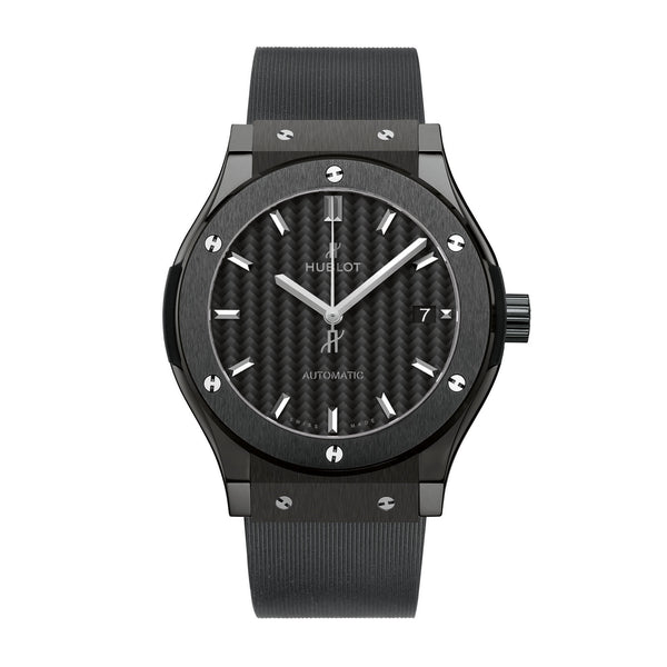 Classic Fusion Automatic Black Dial Black Rubber Men's Watch