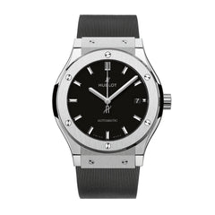 Classic Fusion Black Dial Black Rubber Men's 45mm Watch