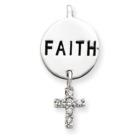 Faith CZ Cross Charm
